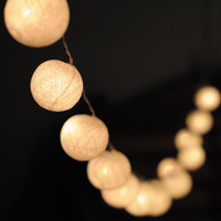 35 light cotton ball  Hanging string light ball wedding display light indoor outdoor