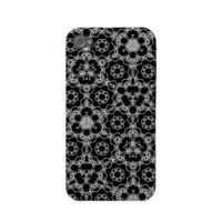 Black and white patterned iPhone case