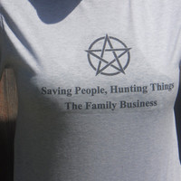 Winchester Brothers Supernatural Inspired T-Shirt.The Family Business. Customize To Size And Color.