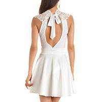 Delicate Lace-Top Skater Dress: Charlotte Russe