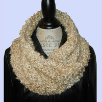 Mobius Cowl Scarf Neck Warmer Twisted Hand Knit  Women Accessories - Pearl White