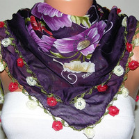 Turkish Anatolians Scarf   Oya  Yemeni  Cowl  Headband by fatwoman-x342