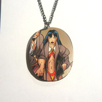 Reversible Vampirella Comic Neckalce by JungleGymAesthetics
