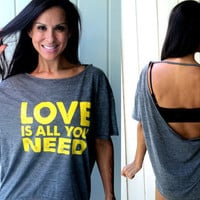 love is all you needbackless flowy burnout by FiredaughterClothing
