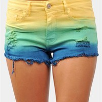 Sun Kissed Shorts - Yellow/Navy