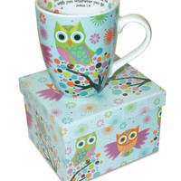 12 oz Owl Mug Joshua 1:9 Be Strong & Courageous For The Lord Your God...