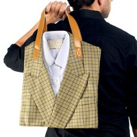Donavan - Upcycled Suit Tote