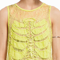 Rib In Lace Tank $20