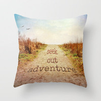 Seek out adventure Throw Pillow by Sylvia Cook Photography