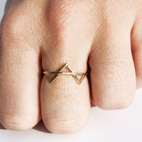 Three Gold Spikes Ring 14 kt Gold FIlled by StefanieSheehan
