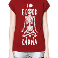 &quot;THE GOOD KARMA&quot; T-SHIRT - TRF - New this week - ZARA United States