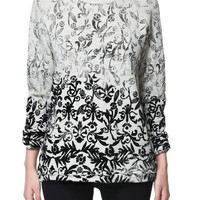 FLOCKED PRINTED SWEATER - Sweatshirts - TRF - ZARA United States