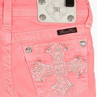 Girls-Miss Me Neon Cropped Jean - Girl's Crops | Buckle