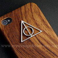 Iphone 4 Case iphone 4s case Deathly Hallows by MyTeenageDream