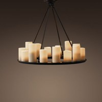 Pillar Candle Round Small Chandelier | Chandeliers | Restoration Hardware