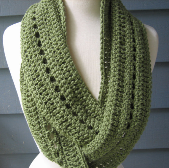 Free Patterns To And Crochet Infinity Scarf : Crochet PATTERN pdf Phoebe Infinity Scarf from ArtsyCrochet on