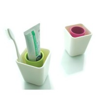 Simple Toothbrush Holder, Pink: Home & Kitchen