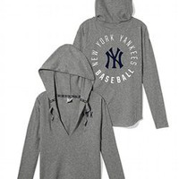 New York Yankees Oversized Pullover Hoodie - PINK - Victoria&#x27;s Secret