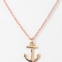 Urban Outfitters - Tiny Anchor Charm Necklace