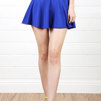 S3011 Royal Blue Scuba Skater Skirt and Shop Apparel at MakeMeChic.com