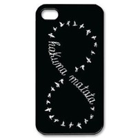 Keep Calm and Hakuna Matata Tribal Pattern Snap On Case Cover for Apple iPhone 4/4s Best Case