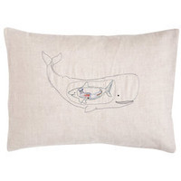 very hungry whale pillow 
