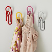 The Land of Nod | Kids Wall Decor: Jumbo Paperclip Wall Hooks in Shelves &amp; Wall Hooks