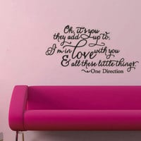 One Direction Little Things Vinyl Wall Decal by RemarkableWalls