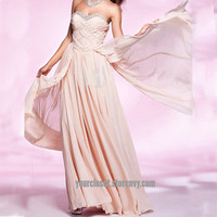 Gorgeous beading strapless chiffon prom dress/winter formal from Your Closet