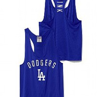 Los Angeles Dodgers Mesh Racerback Tank - PINK - Victoria's Secret