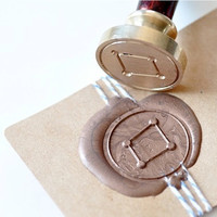 Libra Zodiac Constellation Gold Plated Wax Seal Stamp x 1