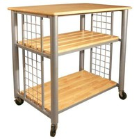 Catskill Craftsmen Contemporary Kitchen Cart-80037 at The Home Depot