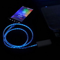 Luminous USB Cable Cord (1M) & USB Power Charger For Iphone 4/4s