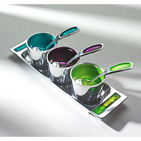 pickle tray in recycled aluminium, enamelled by lindsay interiors | notonthehighstreet.com