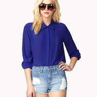 Pleated Front Georgette Top | FOREVER 21 - 2024936285