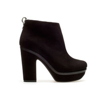 ANKLE BOOT WITH BLOCK HEEL - Shoes - TRF - ZARA United States