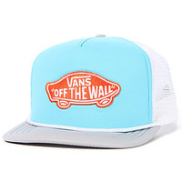 Vans  The Classic Patch Trucker Hat in Blue Atoll : Karmaloop.com - Global Concrete Culture