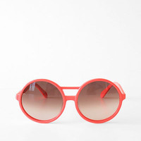 Karen Walker Rover Sunglasses- Neon Orange