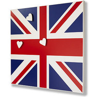traditional union jack notice board with ceramic magnets by green & co. | notonthehighstreet.com
