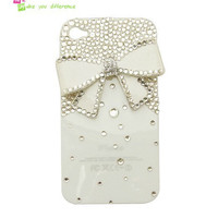 Free shipping iphone 4 case , iphone 4s case , case for Iphone 4 mobile Case handmade: Shining bow i88485395 (custom are welcome)