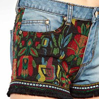 Freak Of Nature Tequila Slammer Denim Shorts at asos.com
