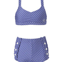 GUESS Kids Swim, Girls Two-Piece Dot-Print Swimsuit - Kids Girls 7-16 - Macy's