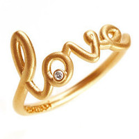 Max & Chloe - Avanessi Yellow Gold Love Ring - Max and Chloe