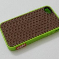 Amazon.com: VANS Waffle Sole Shoe Case Cover Fits Apple iPhone 4 4s 4G, Green/brown: Cell Phones & Accessories