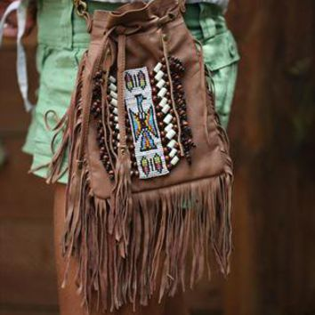 (99+) Fringed Brown Leather Festival Bag | Lindi Kingi Design | ASOS Marketplace