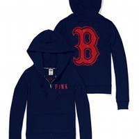 Boston Red Sox Bling Perfect Full Zip Hoodie - PINK - Victoria's Secret