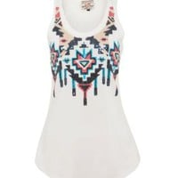 New Look Mobile | Parisian White Aztec Sequin Vest