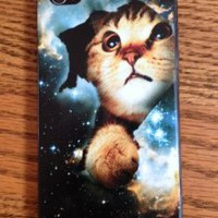 Amazon.com: iPhone 4 4/SFunny Cool Space Cat Case Cover For Your iPhone: Cell Phones & Accessories