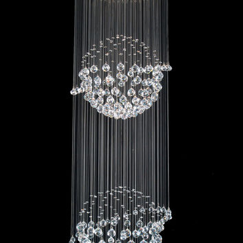 A93-809/8 Gallery Modern / Contemporary CRYSTAL LIGHT FIXTURE