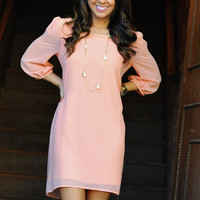 Blow Me Away Dress: Pale Pink | Hope&#x27;s